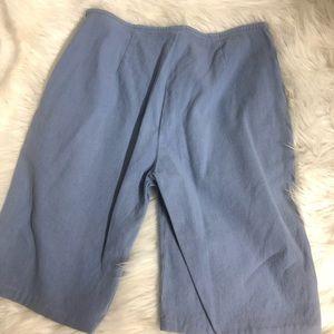 High waisted Worth blue linen shorts